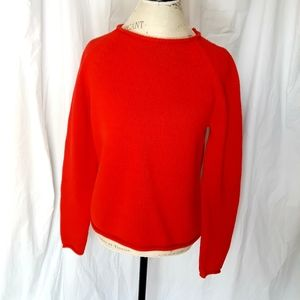Large Red J Crew Knit Sweater